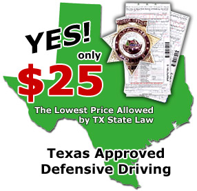 Texas Defensive Driving courses for the cheapest price!